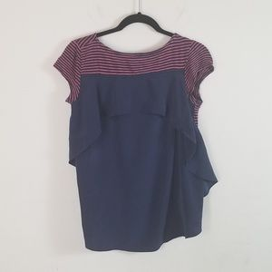 Anthropologie Tops - Anthropologie Meadow Rue Striped Ruffled Top XS